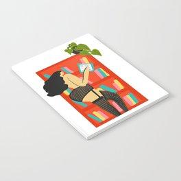 Girl Reading Notebook