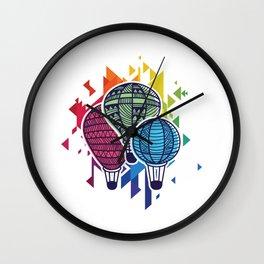 Balloon Aircraft Wicker Basket Gondola Awesome Colorful Hot Air Balloon Gift Wall Clock