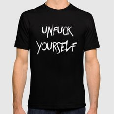 Unfuck Yourself - inverse MEDIUM Mens Fitted Tee Black