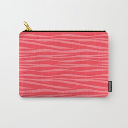 Zebra Print - Coral Macaroon Carry-All Pouch