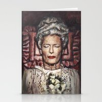 wes anderson Stationery Cards featuring Tilda Swinton / Grand Budapest Hotel / Wes Anderson / Madame D. by Heather Buchanan