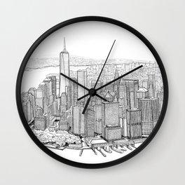 New York City, Lower Manhattan Wall Clock
