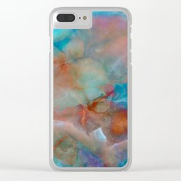 Colorful watercolor abstraction Clear iPhone Case