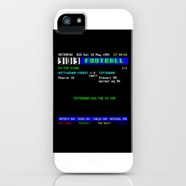 1991 FA Cup Final Tottenham 2 Nottingham Forest 1 iPhone Case