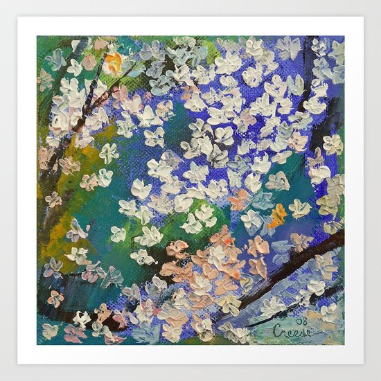 Sakura Oil Painting Art Print