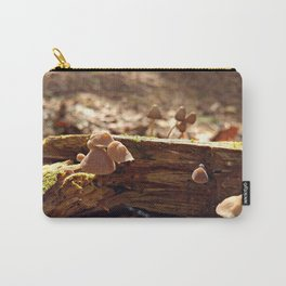 Sunlit Baby Mushrooms Carry-All Pouch