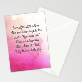 Even After All This Time, by Hafiz Stationery Cards