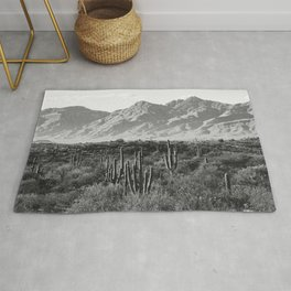 Wild West III - Tucson - Black & White version Rug