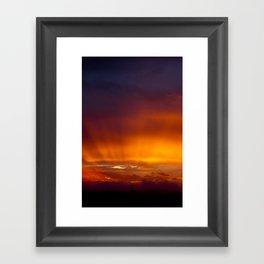 Holy Sunset Framed Art Print