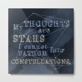TFIOS - My Thoughts Are Stars Metal Print