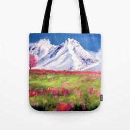 Mountain landscape digital painting Tote Bag