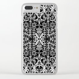 Lace Variation 01 Clear iPhone Case