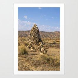 Pierres dans le désert Art Print