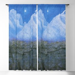 "Harald Sohlberg ""Winter Night in the Mountains (Winter Night in Rondane)"" - study (1901) Blackout Curtain"