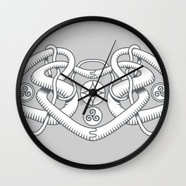 Celtic Triple Heart Wall Clock