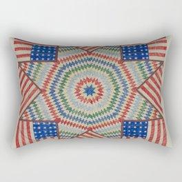 Americana Quilt Rectangular Pillow