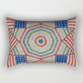 Americana Quilt Rectangular Pillow