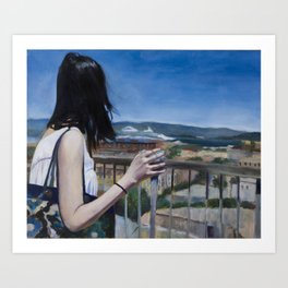Girl in SF Art Print