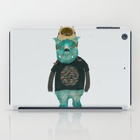 cookie monster iPad Cases featuring cookie and big blue by bri.buckley
