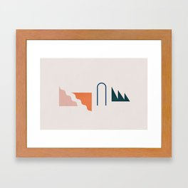 Even Framed Art Print