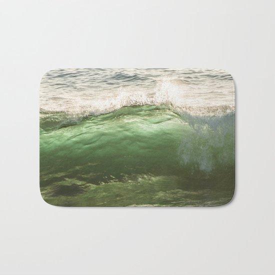 Green light water surf Bath Mat
