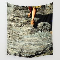 return Wall Tapestries featuring Departure and Return by Margarida Marinho
