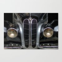 bmw Canvas Prints featuring Old BMW by Cozmic Photos