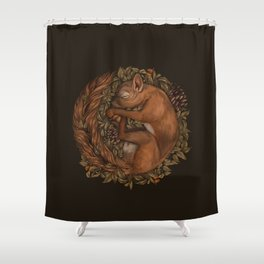 Hibernation Shower Curtain