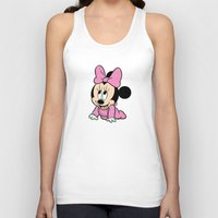 minnie mouse Tank Tops featuring Cute baby Minnie Mouse by Yuliya L