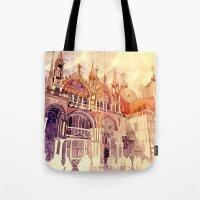 takmaj Tote Bags featuring Venezia by takmaj