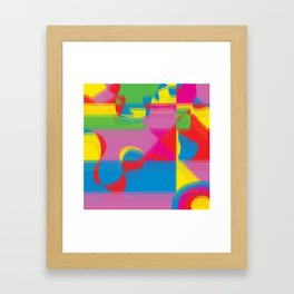 Pop Art Expression Framed Art Print