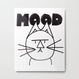 FeltTipCat - Mood Metal Print