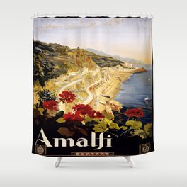 Vintage poster - Amalfi Shower Curtain