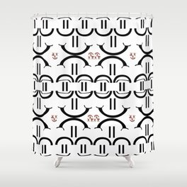 Dr Emp's garage Shower Curtain