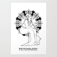 psychology Art Prints featuring Psychology by Verdant Winter