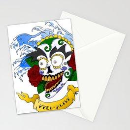 Feel Alive Skull Stationery Cards