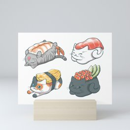 Sushi Cats Mini Art Print