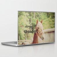 scripture Laptop & iPad Skins featuring Job 39: 19 Horse Scripture by KimberosePhotography