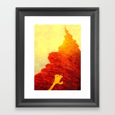 the forever climb Framed Art Print