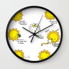 Sun Facts Wall Clock