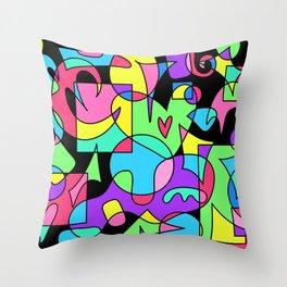 Shake It Up! 3 (on black) Throw Pillow