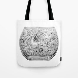 Two Lost Souls Swimming In A Fish Bowl Tote Bag