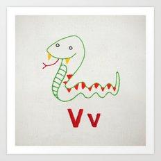 V Viper Art Print