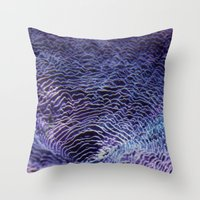 underwater Throw Pillows featuring underwater  by Bunny Noir