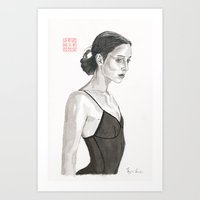ballerina Art Prints featuring Ballerina by Bryan James