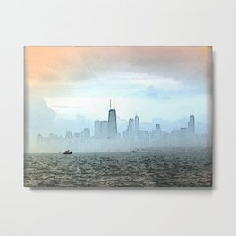 Foggy Skyline #3 Metal Print