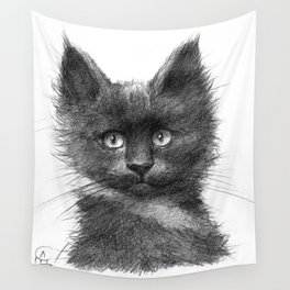 Black Kitten SK135 Wall Tapestry
