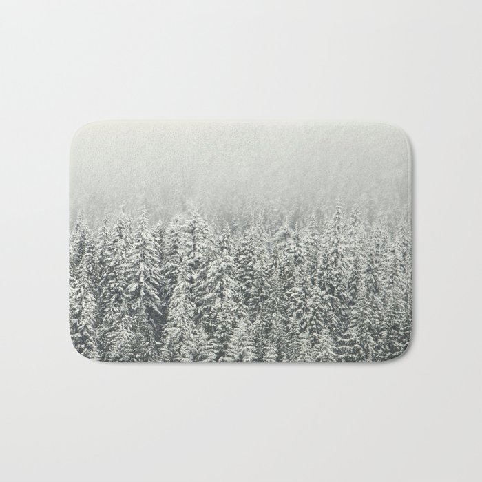 Snow Forest Bath Mat
