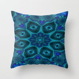 Battling At The Chasm Mandala 13 Throw Pillow