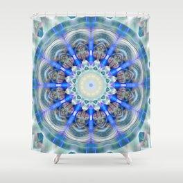 Mandala element air Shower Curtain